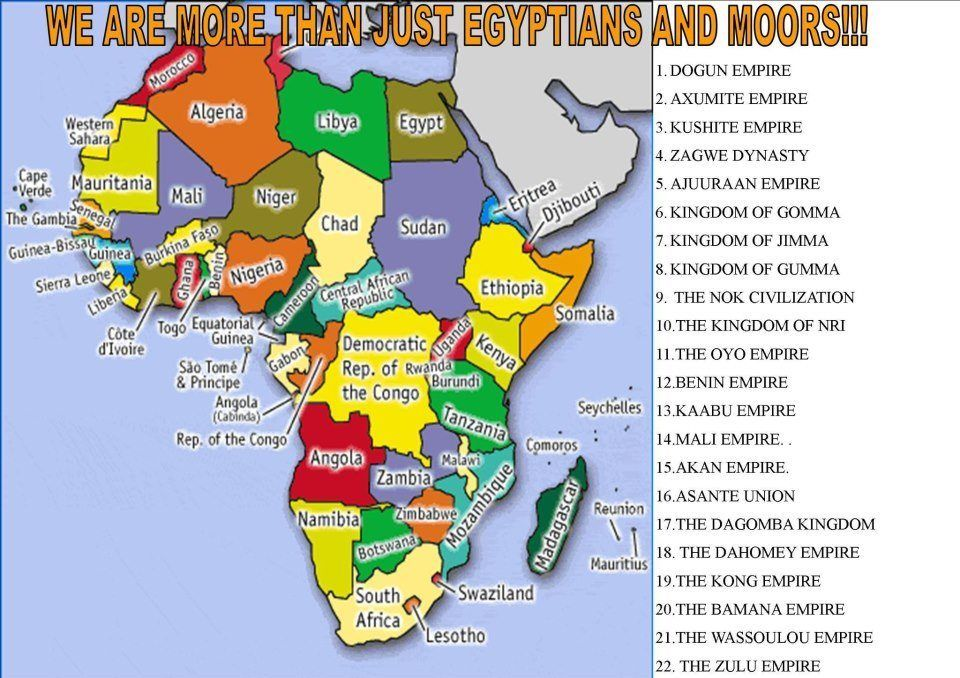 Our history is much deeper than just the Egyptians and the Moors