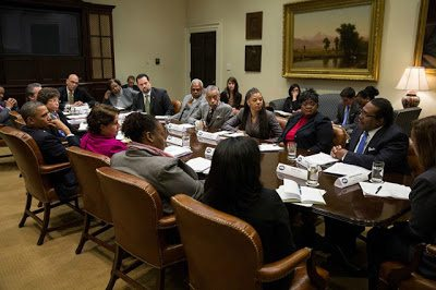 President Obama Meets With African-American Leaders To Address Economic Concerns