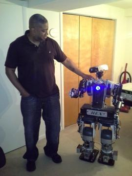 Retired Officer Builds Human-like Robot from Appliances