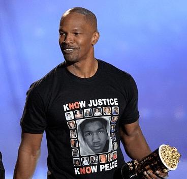 Jamie Foxx Blasted with Racist Remarks Over Travon Martin Shirt