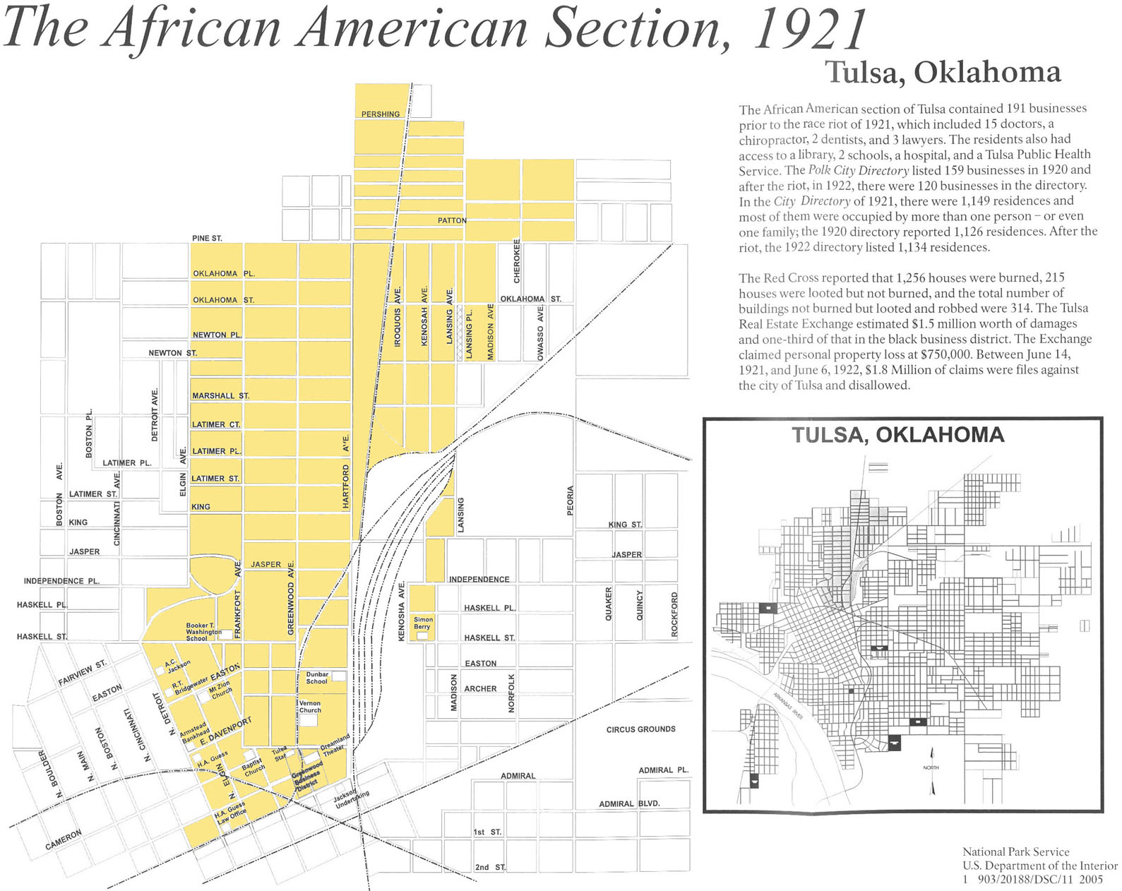 Black history month day 19 tulsas black wall street the greenwood district of tulsa ccuart Gallery
