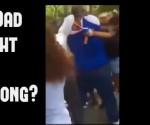 dad fighting teens