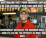 Aussies and Minimum Wage