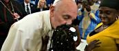 popr francis kissing black baby