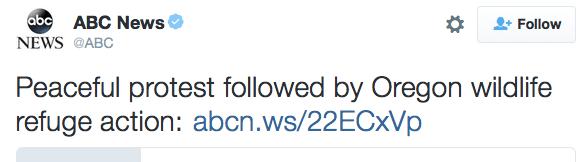 ABC News Oregon Tweet