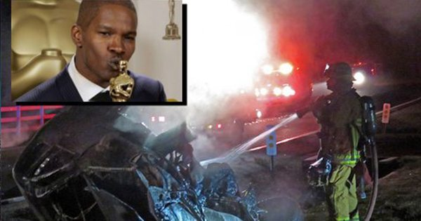 Jamie Super FOXX in Action Pulls Man from Burning Car | MY HEROS ARE BLACK LIKE ME: