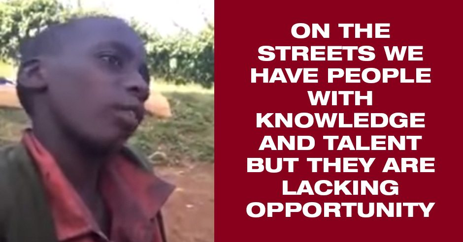 "Homeless Nairobi Boy Gives Us All Schooling On The Need For ""Opportunity"" To Nurture Talent"