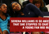 Serena Williams Is So Awesome That She Stopped To Chat With A Young Fan Mid Match! 2