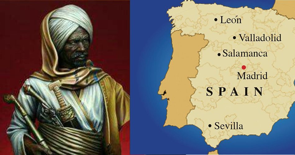 Map Of Spain 711.Claim Of Dark Ages Hides Your History Mighty Warrior Tariq Ibn
