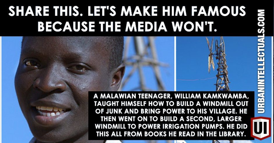 Malawian Teen Taught Himself How To Build A Windmill From Junk, Brought Power To His Village, ALL Learned From Library Books! | Urban Intellectuals