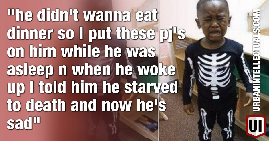Funny Or Bad Parenting? Little Boy Convinced He Starved To