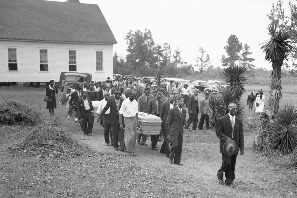 Funeral for Two Lynching Victims