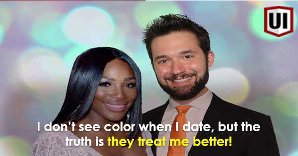 Serena williams dating white man