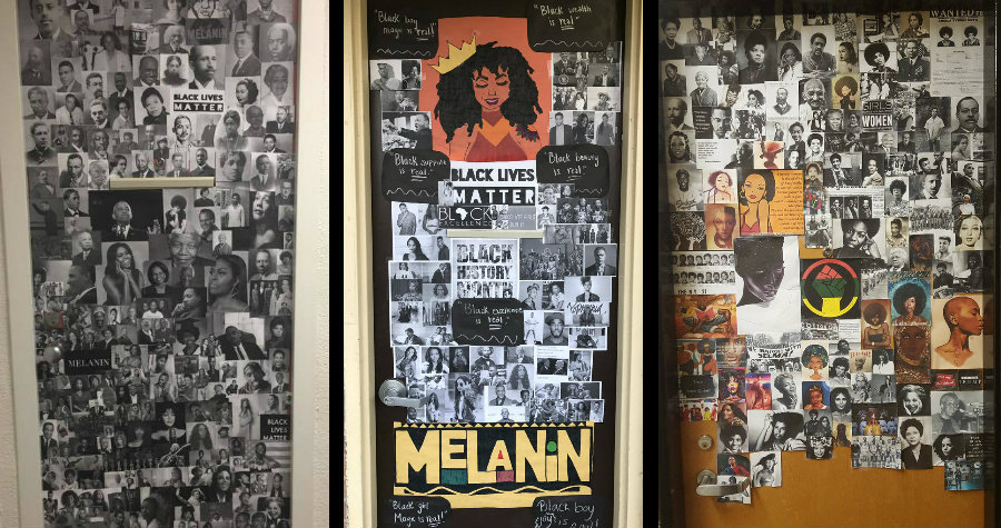 Students Participate in Door Challenge to Celebrate Black History Month
