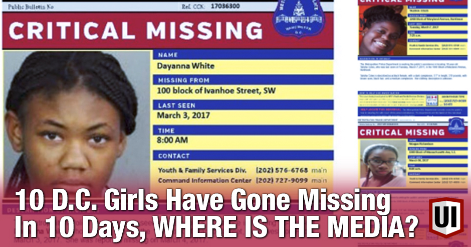 WHERE IS THE MEDIA? 10 Black and Latinx Kids Have Gone Missing In 10 Days In D.C.