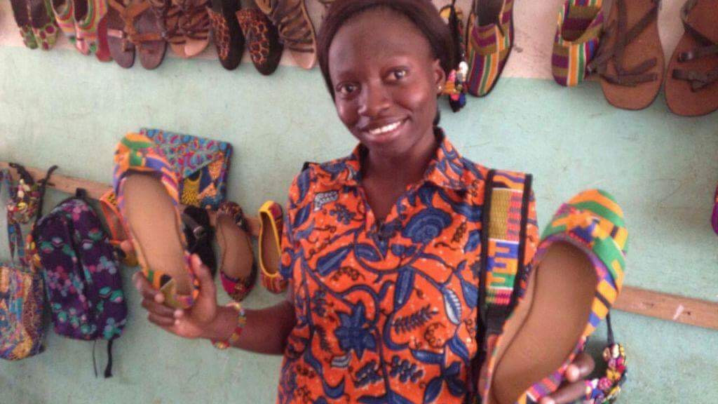 This 23-Year-Old Ghanaian Is Uplifting Her Community And Making Beautiful Shoes From Trash!