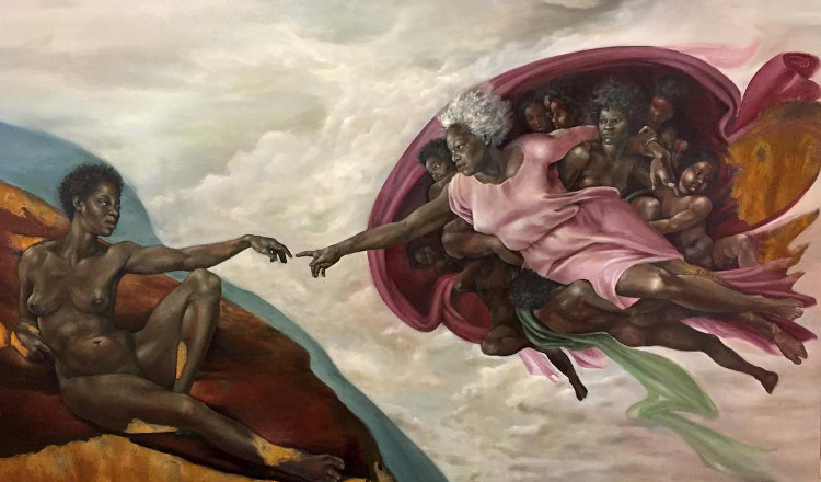 WOW: Afro-Lantinx Artist Re-Imagines Renaissance Paintings With An Inclusive Twist