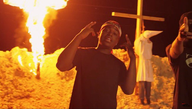 Kodak Black's Video Features KKK Members Hanging From Burning Cross {Video}