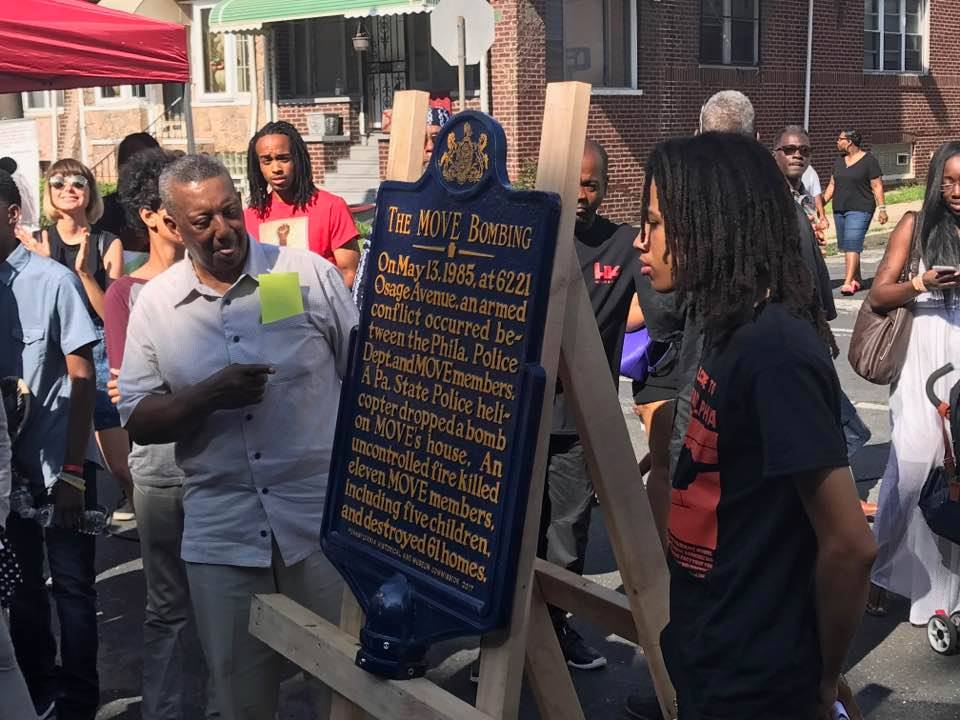 Plaque Unveiled in W.Philly To Commemorate When Police Bombed Black Activists And Destroyed 65 Homes!