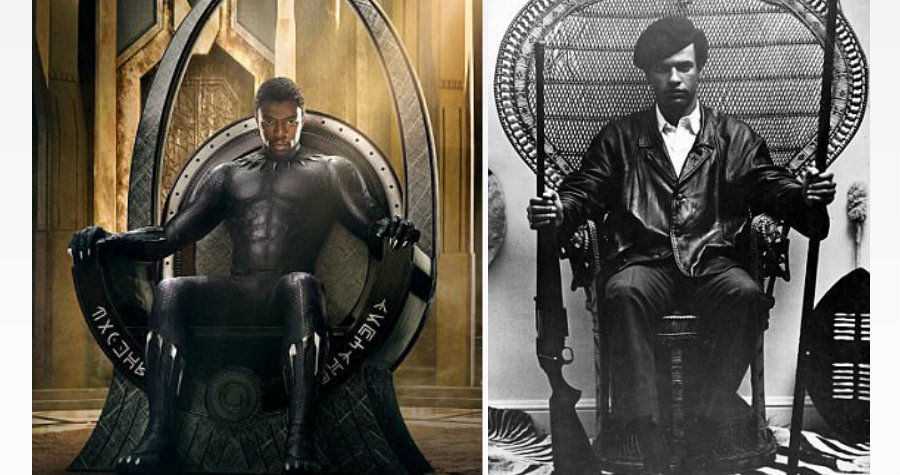 Marvel's Black Panther Poster is Not Paying to Huey P. Newton it's a Coincidence