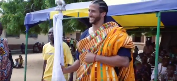 """(VIDEO) Kaepernick In Ghana """"How can we truly celebrate independence on a day that intentionally robbed our ancestors of theirs?"""""""