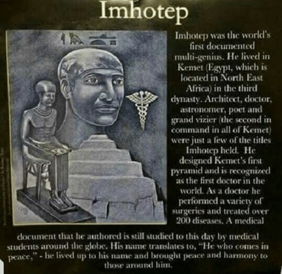 Did You Know That Imhotep is the Real Father of Medicine?