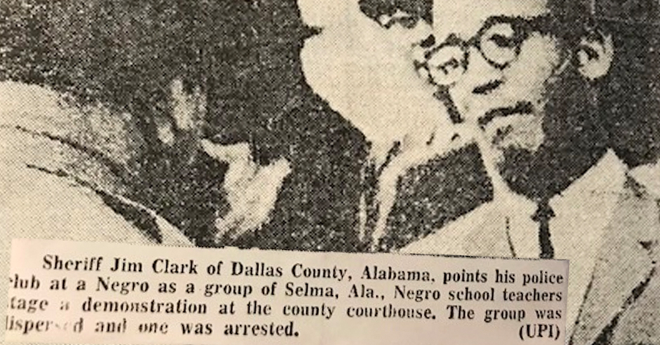 In 1965 Mr. Lawrence Huggins Led A march of 105 African American Educators To Attempt To Register To Vote