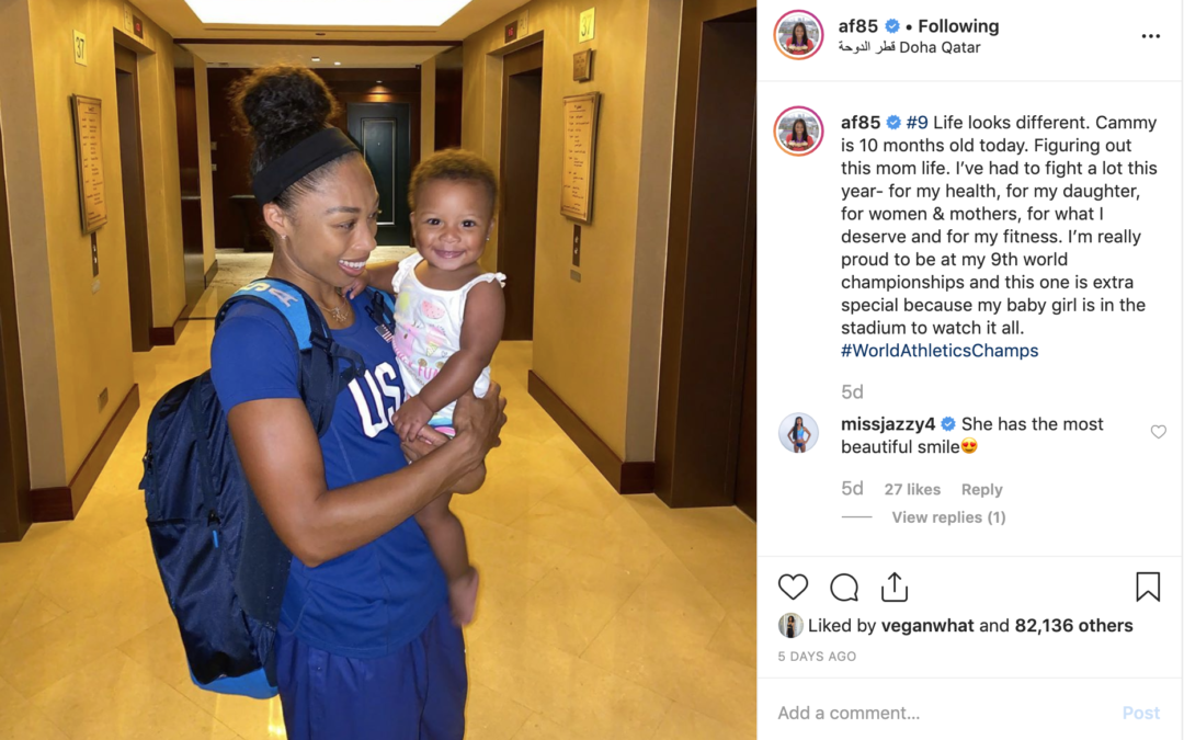 Allyson Felix breaks world record held by Usain Bolt 10 months after giving birth