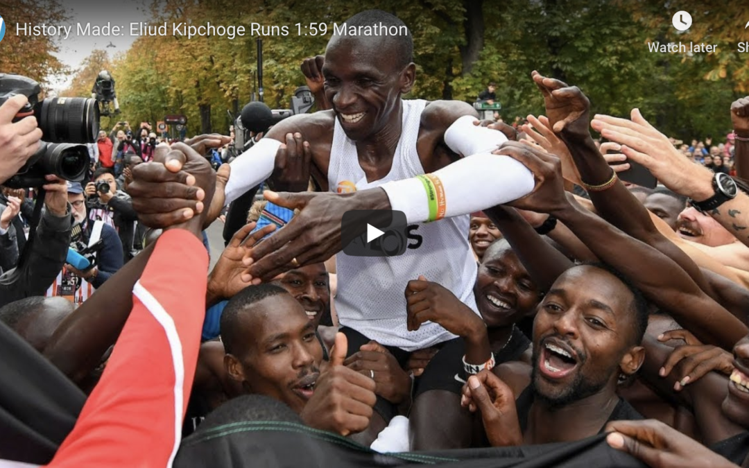 Eliud Kipchoge Becomes First Person EVER To Run Sub-2-Hour Marathon!