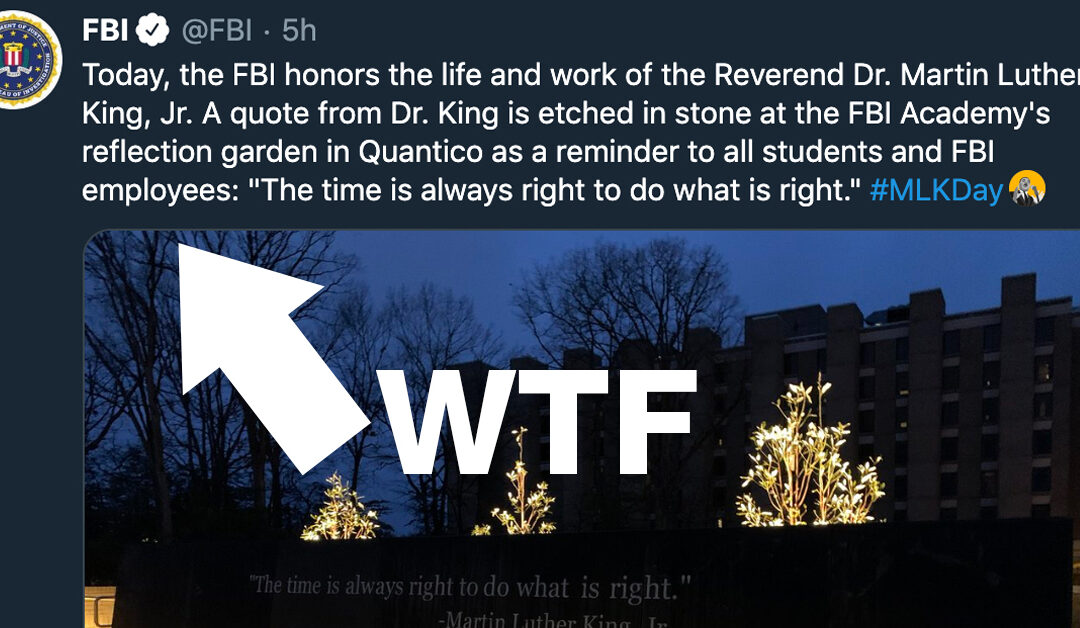 Did the FBI seriously try to honor #MLK today, after everything they did?