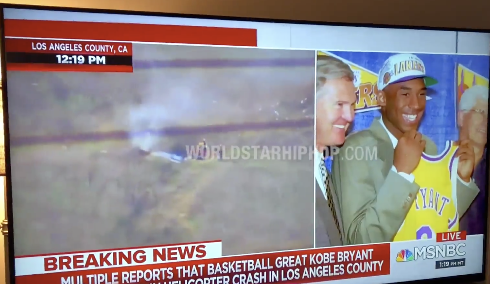 {VIDEO} MSNBC Anchor Says N***ERS (or NAKERS?) When Addressing The Death Of Kobe Bryant!