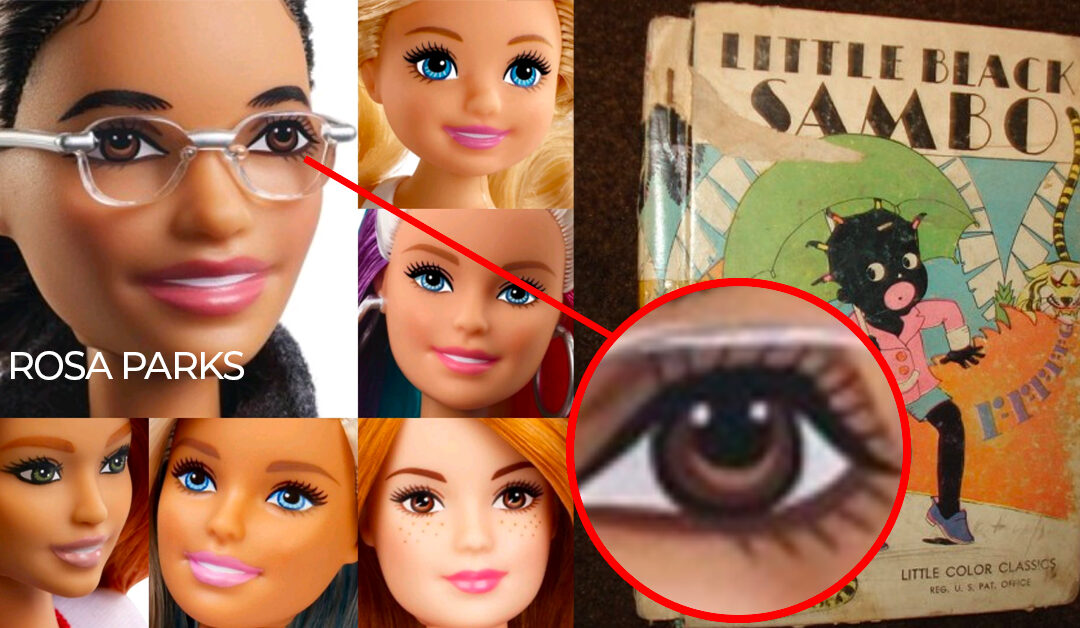 """Surely Not A Mistake? New Rosa Parks Barbie Has Eyes That Look Like Racist """"Sambo"""" Faces"""