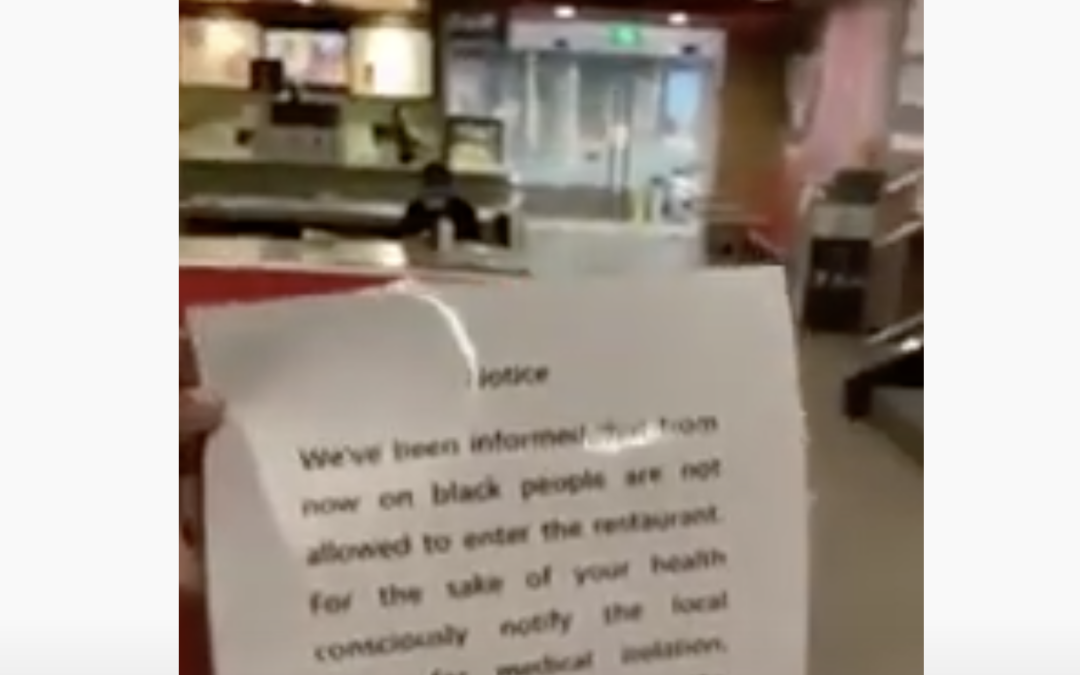 Chinese McDonalds had a sign saying 'Black People Are Not Allowed', Chinese City Orders Mandatory Quarantine For African Residents!!!